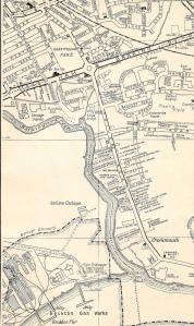 Barking - River Side Rd, map c1965