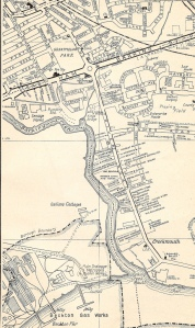 Barking - River Side Rd, map c1965