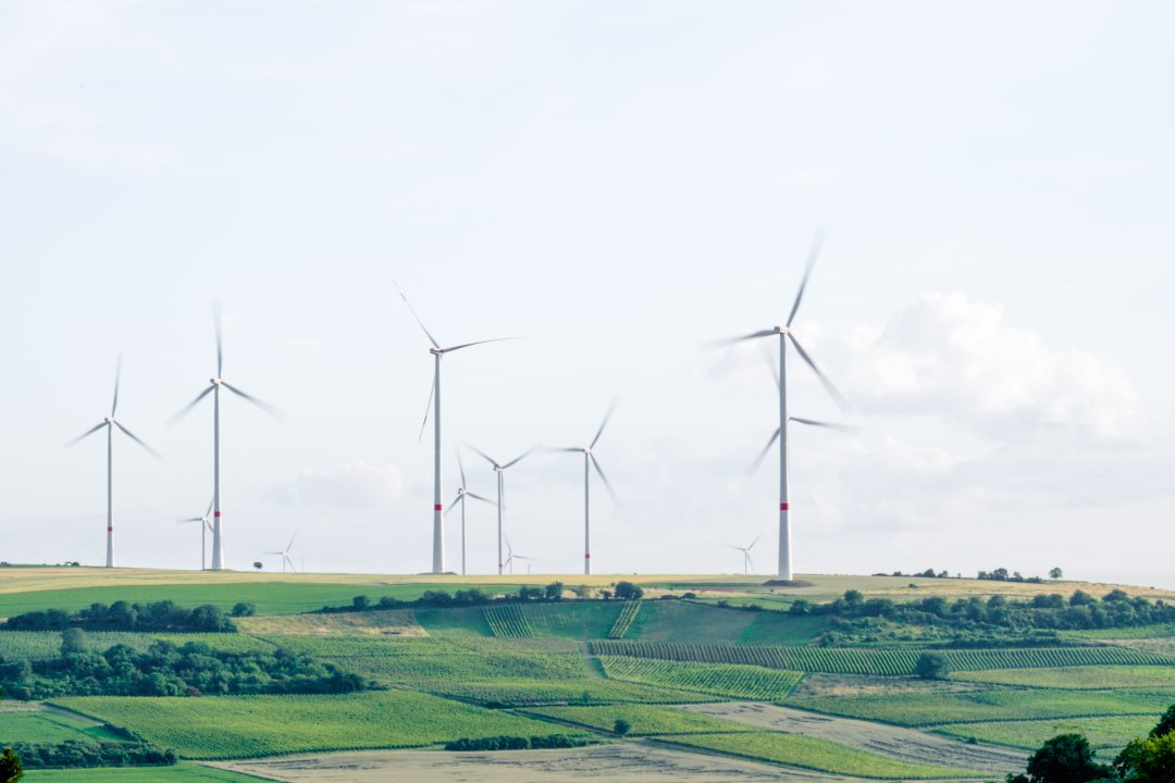 Wind turbines in Mölsheim, Germany