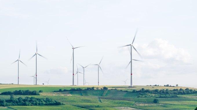 Wind turbines in Mölsheim, Germany
